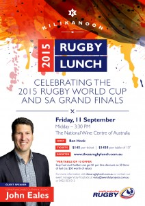 Invitation - The 2015 SA Rugby Lunch